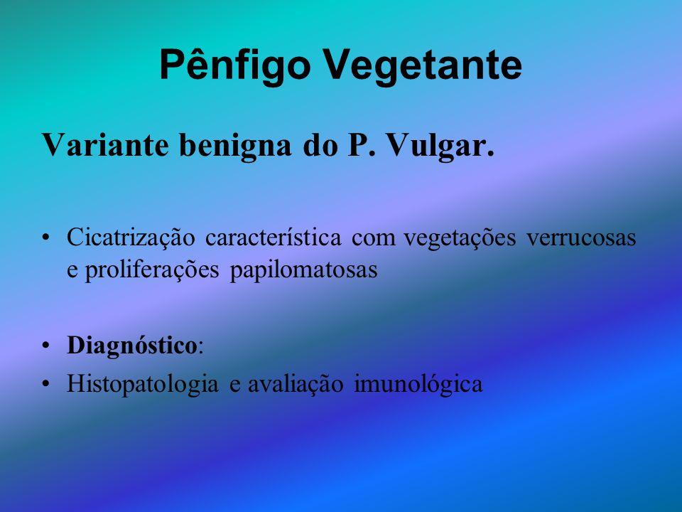 Pênfigo Vegetante Variante benigna do P. Vulgar.