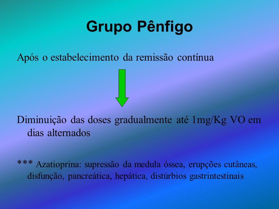 Grupo Pênfigo Após o estabelecimento da remissão contínua