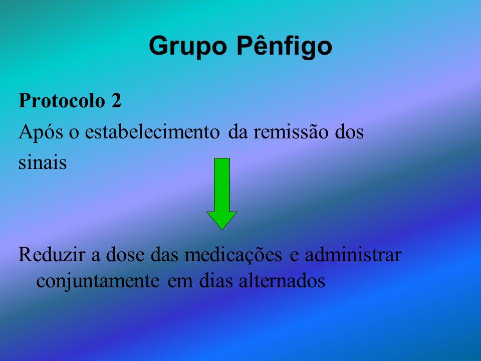 Grupo Pênfigo Protocolo 2 Após o estabelecimento da remissão dos