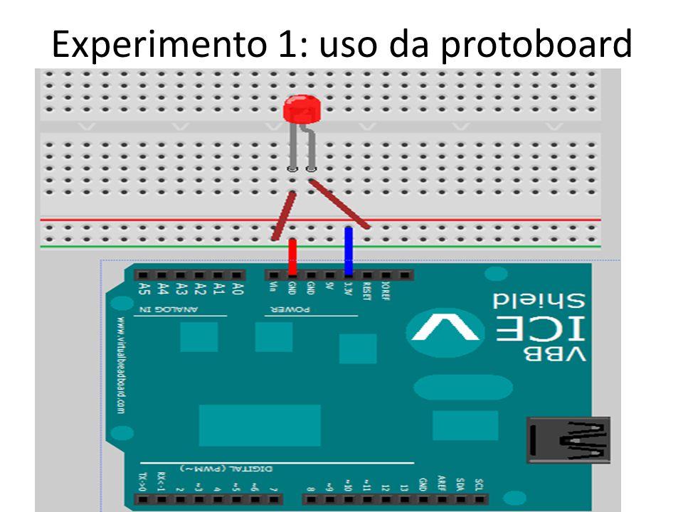 Experimento 1: uso da protoboard