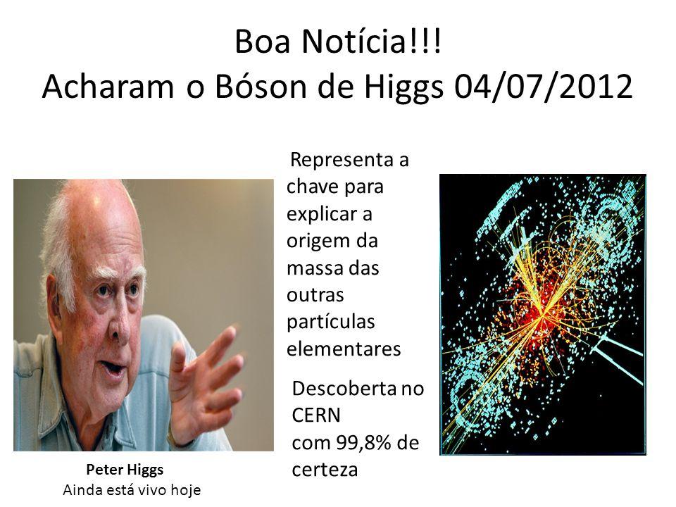 Boa Notícia!!! Acharam o Bóson de Higgs 04/07/2012