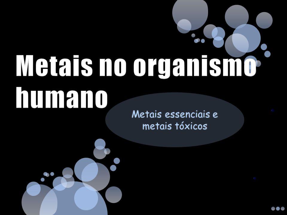 Metais no organismo humano