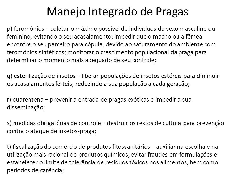 Manejo Integrado de Pragas
