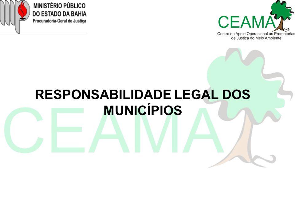 RESPONSABILIDADE LEGAL DOS MUNICÍPIOS