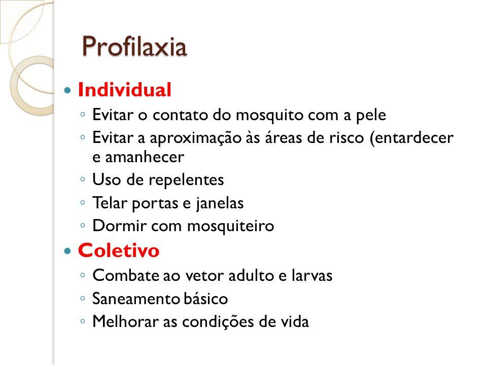 Profilaxia Individual Coletivo Evitar o contato do mosquito com a pele