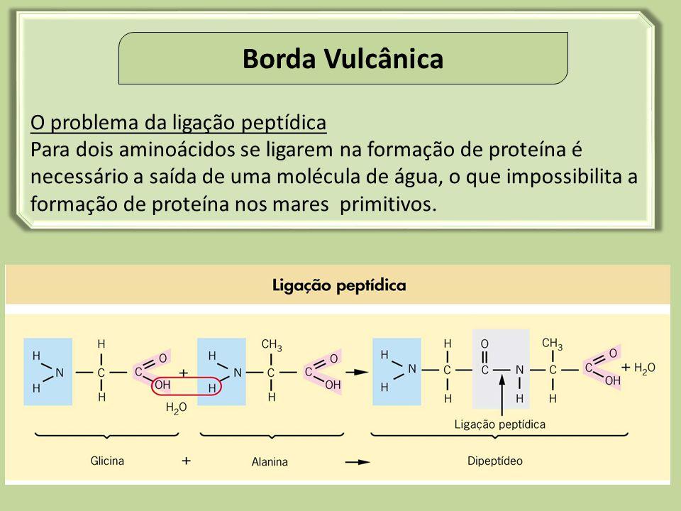 Borda Vulcânica O problema da ligação peptídica