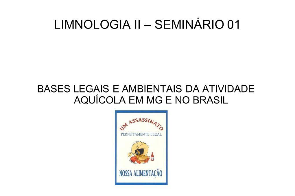 LIMNOLOGIA II – SEMINÁRIO 01