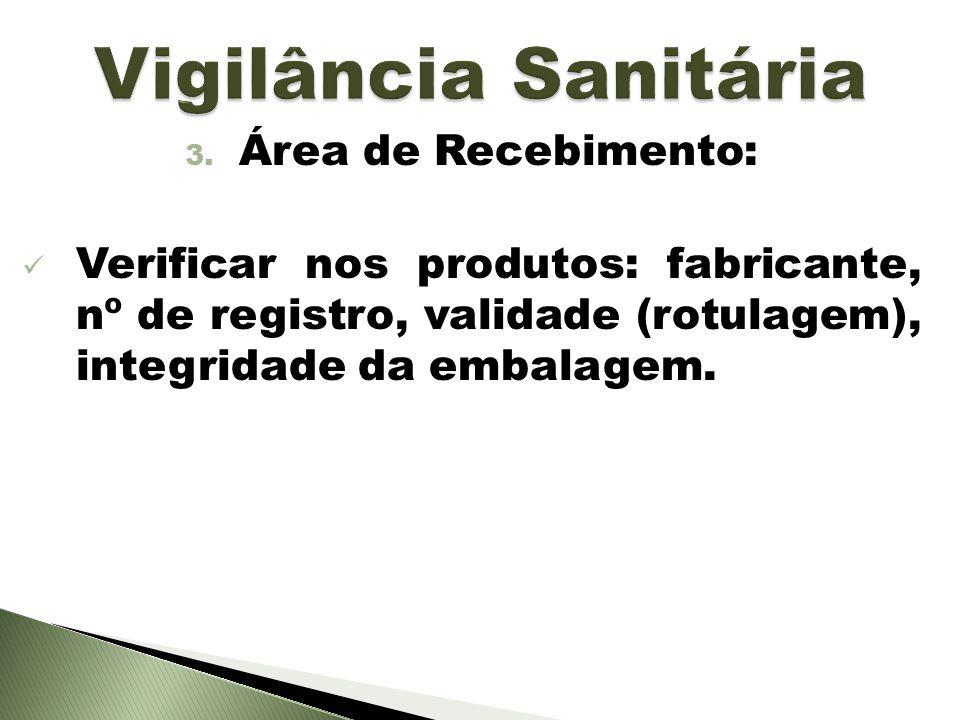 Vigilância Sanitária Área de Recebimento: