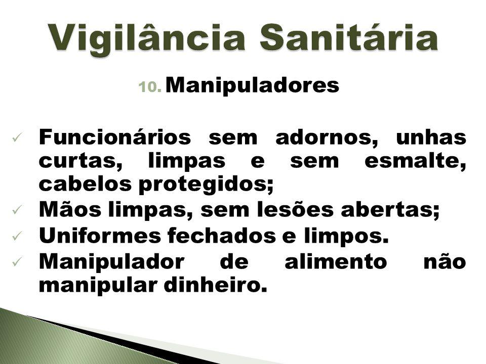 Vigilância Sanitária Manipuladores