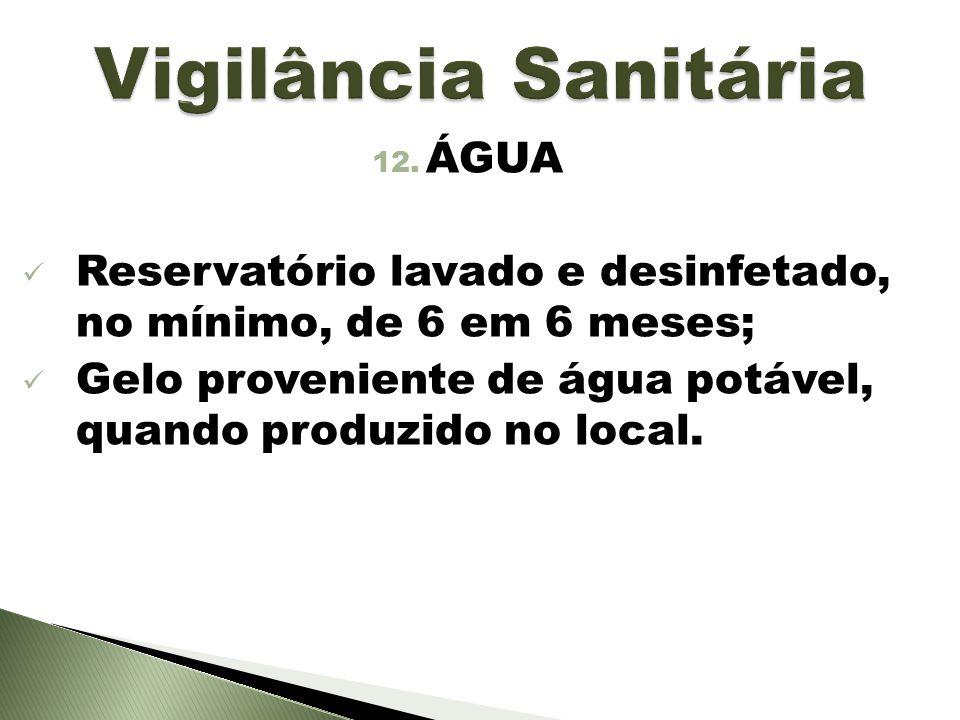 Vigilância Sanitária ÁGUA
