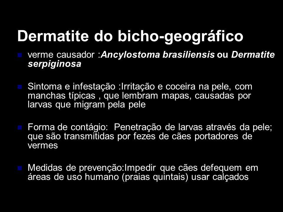 Dermatite do bicho-geográfico