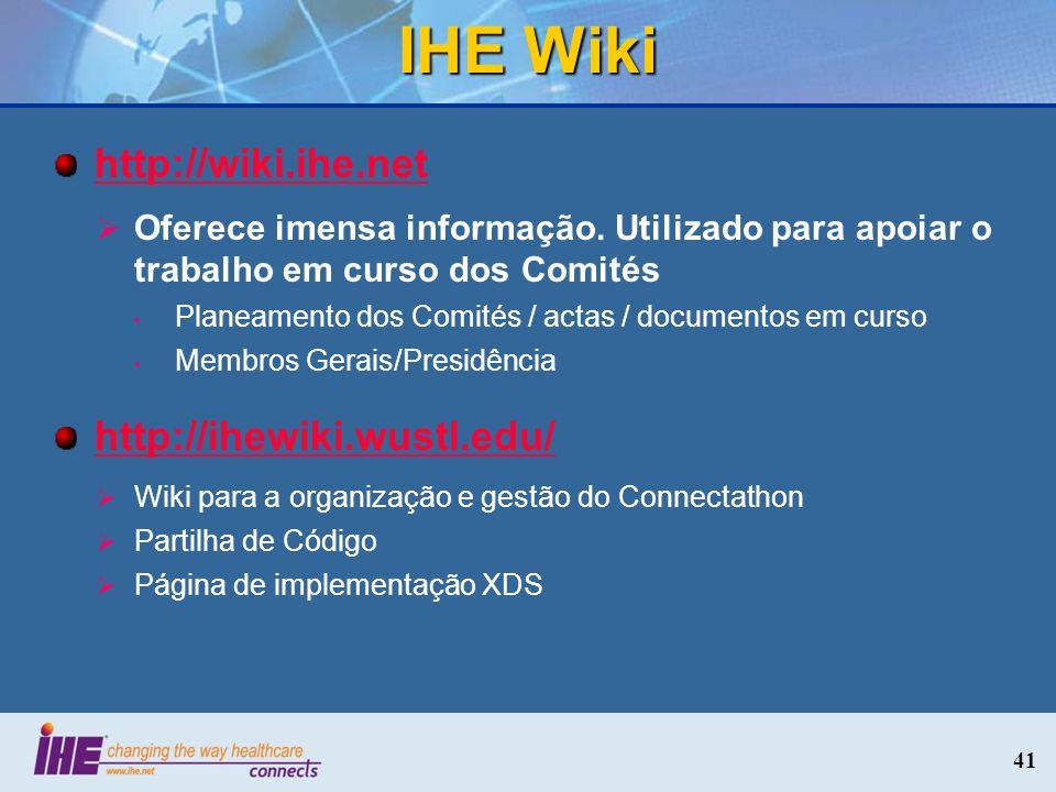 IHE Wiki http://wiki.ihe.net http://ihewiki.wustl.edu/