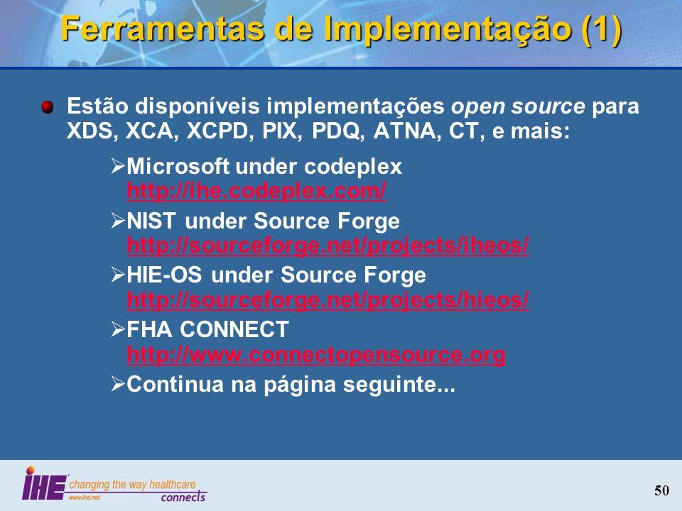 Ferramentas de Implementação (1)