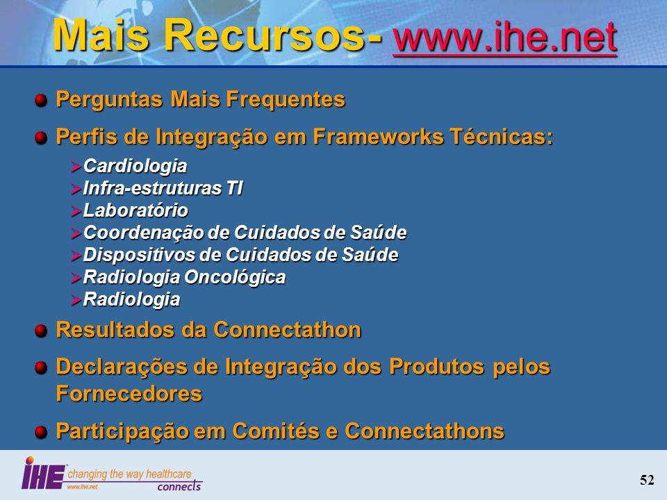 Mais Recursos- www.ihe.net
