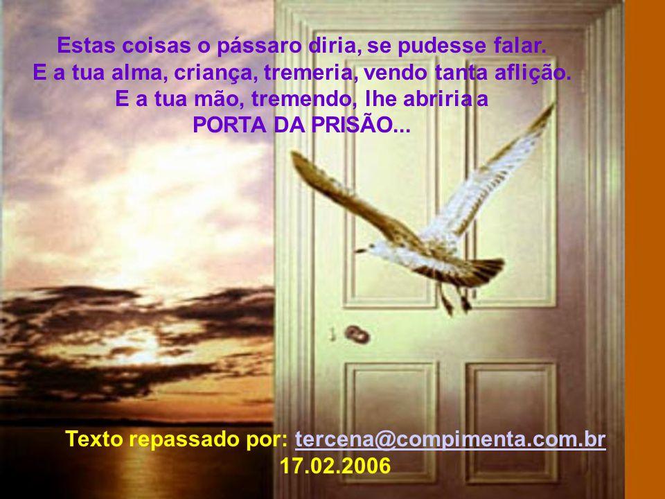 Texto repassado por: tercena@compimenta.com.br 17.02.2006