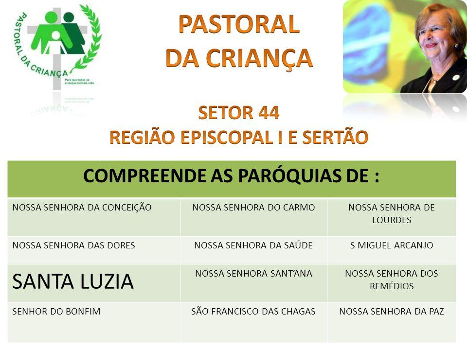 REGIÃO EPISCOPAL I E SERTÃO COMPREENDE AS PARÓQUIAS DE :