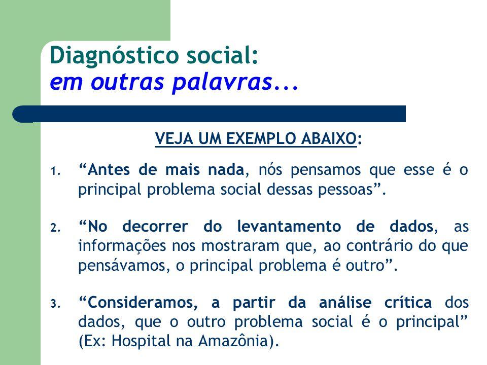 Diagnóstico social: em outras palavras...