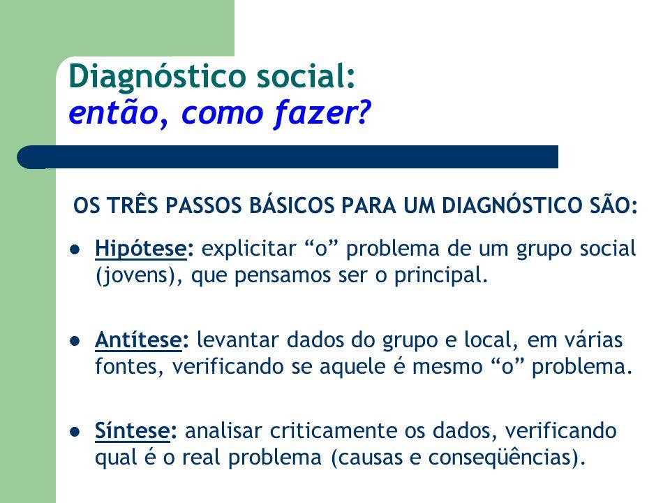 Diagnóstico social: então, como fazer