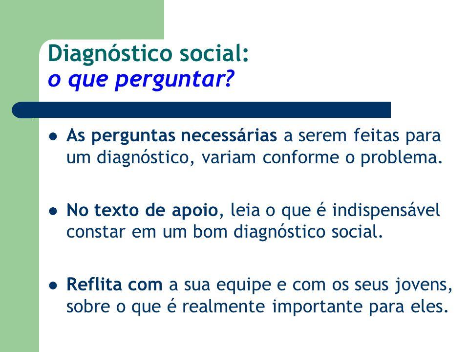 Diagnóstico social: o que perguntar