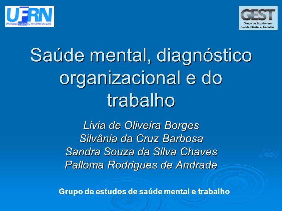 Saúde mental, diagnóstico organizacional e do trabalho