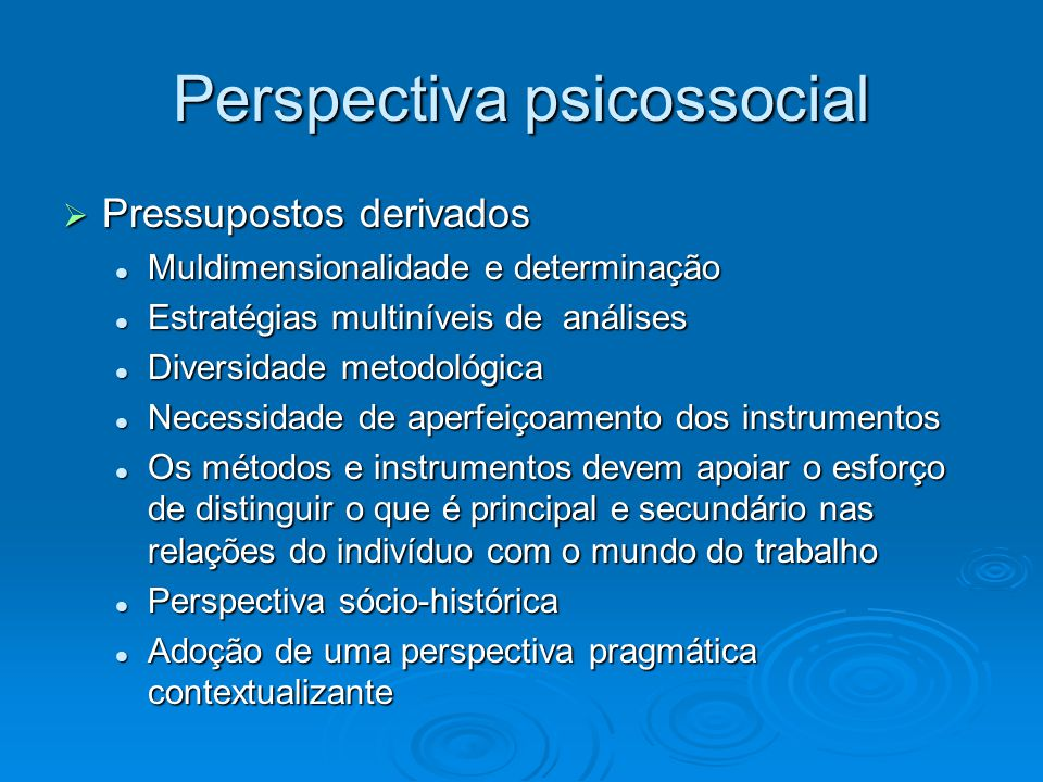 Perspectiva psicossocial