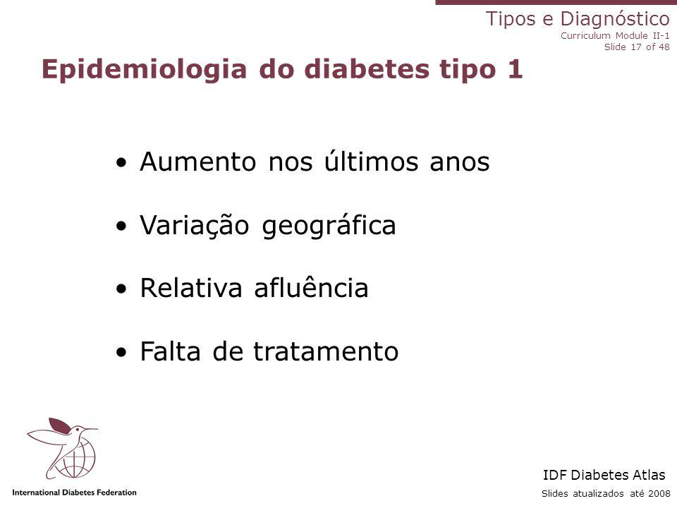 Epidemiologia do diabetes tipo 1