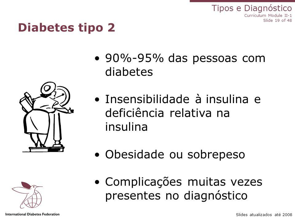 90%-95% das pessoas com diabetes