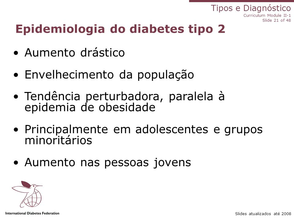 Epidemiologia do diabetes tipo 2