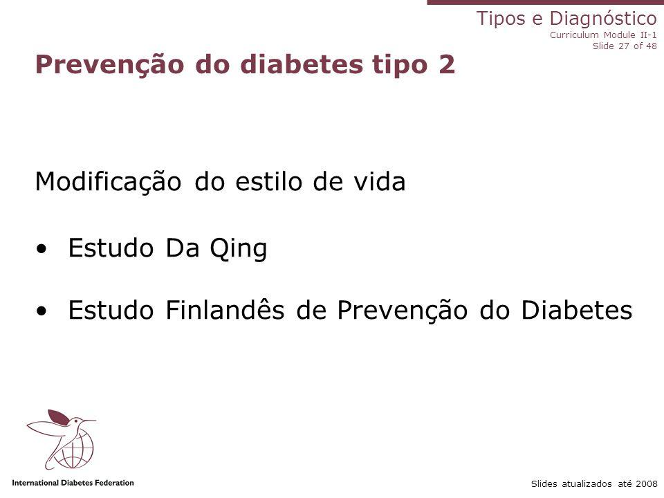 Prevenção do diabetes tipo 2