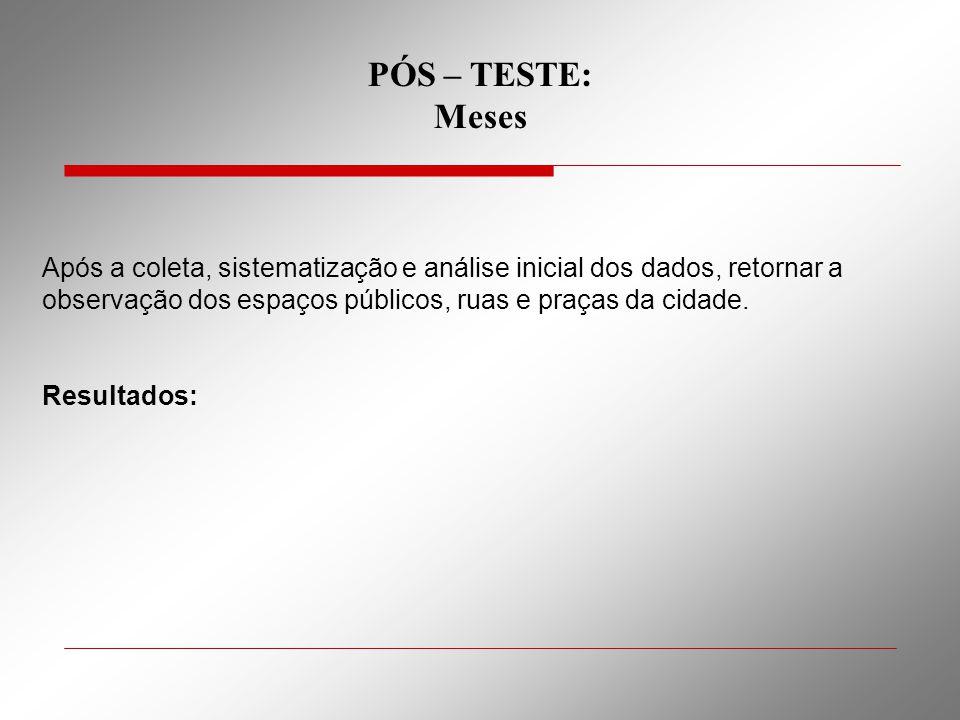 PÓS – TESTE: Meses.