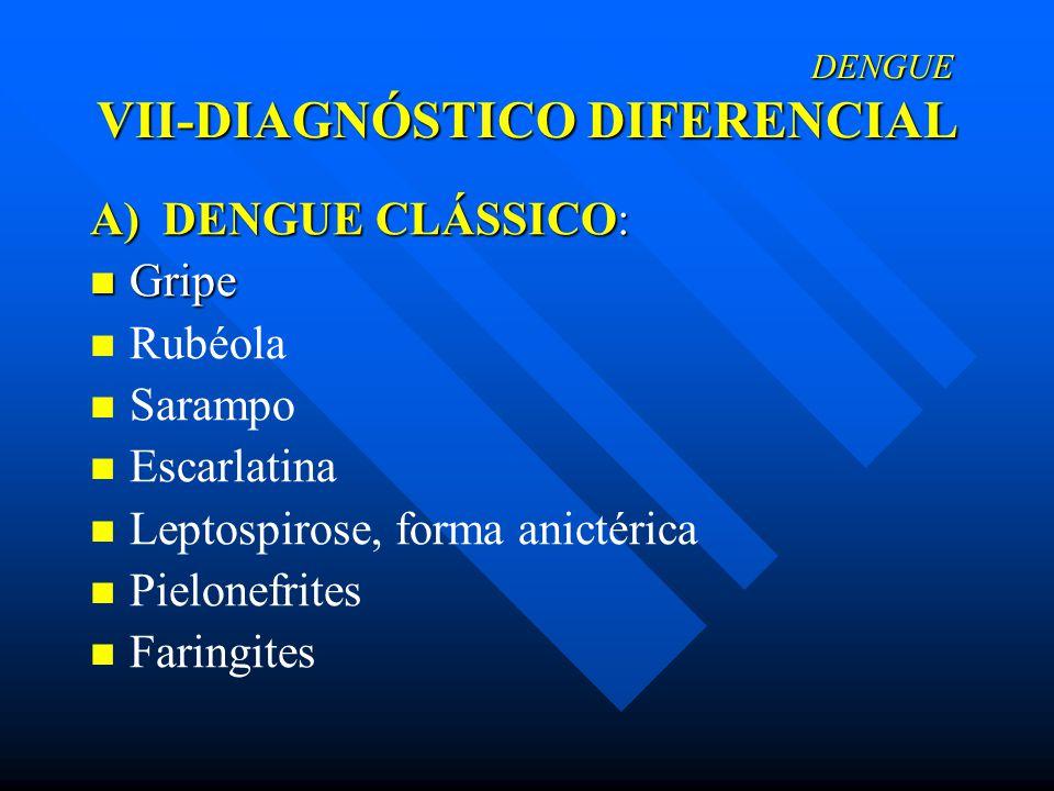 DENGUE VII-DIAGNÓSTICO DIFERENCIAL