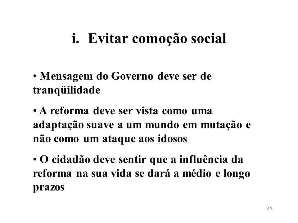 Evitar comoção social Mensagem do Governo deve ser de tranqüilidade
