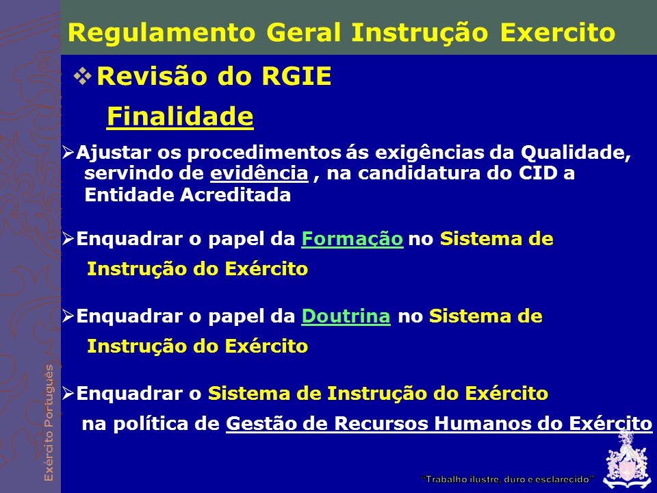 Regulamento Geral Instrução Exercito