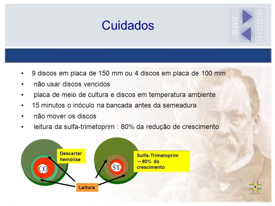 Cuidados sair. índice. 9 discos em placa de 150 mm ou 4 discos em placa de 100 mm. não usar discos vencidos.