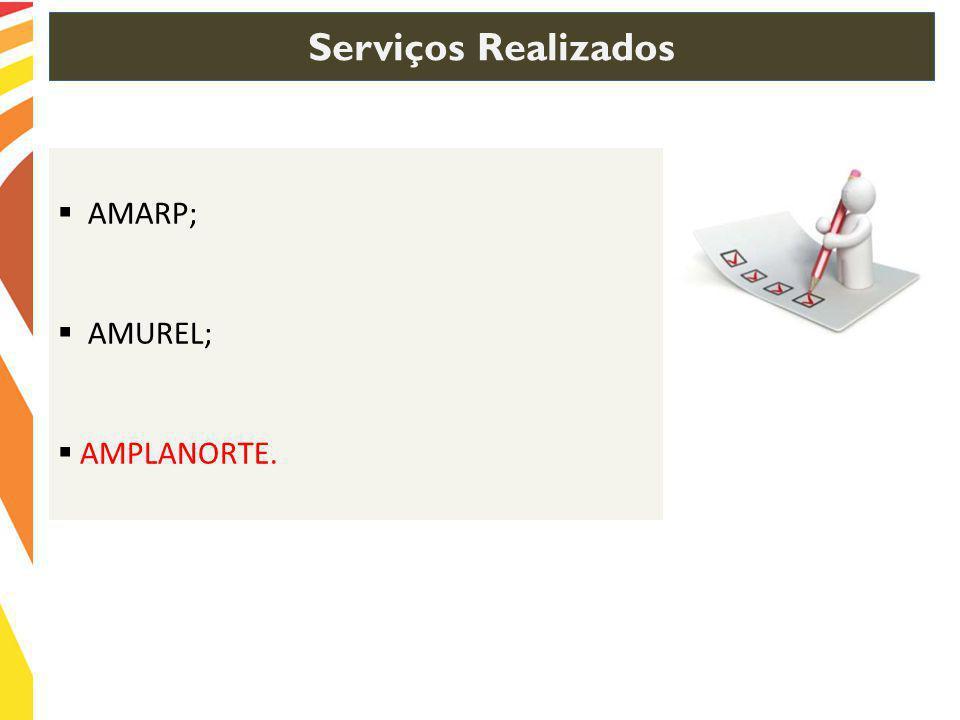 Serviços Realizados AMARP; AMUREL; AMPLANORTE.