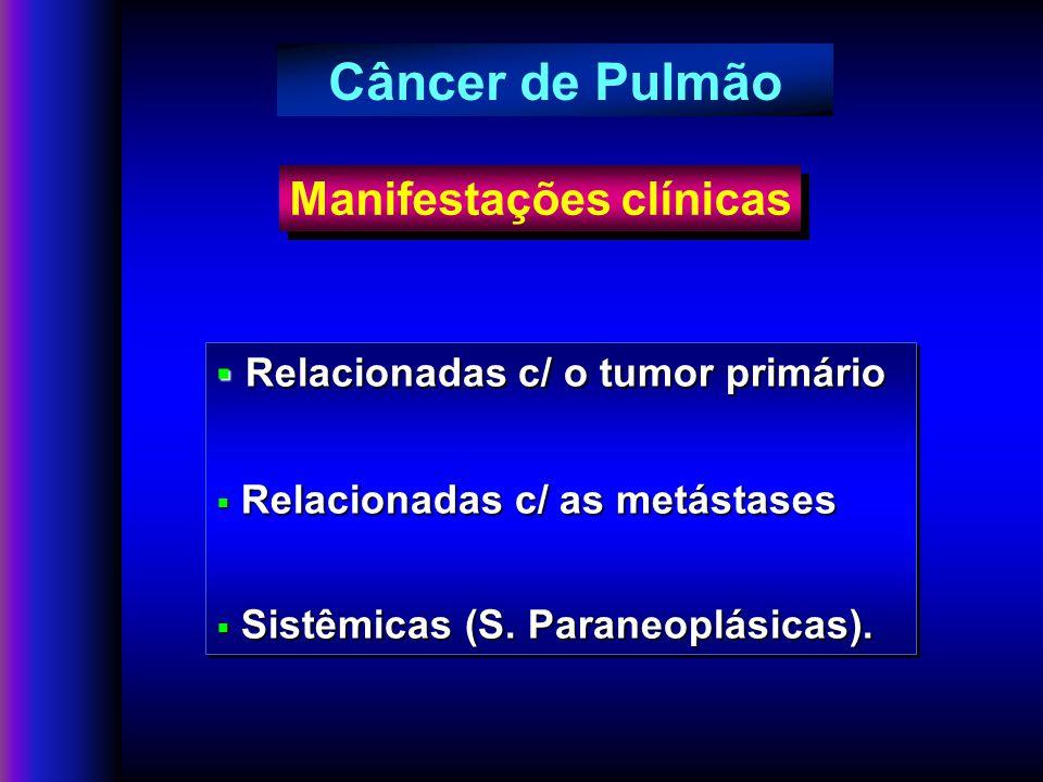 Câncer de Pulmão Manifestações clínicas