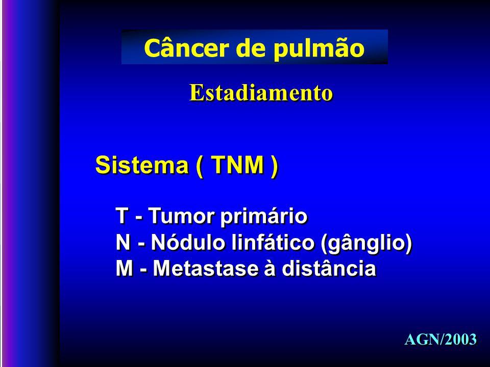 Câncer de pulmão Estadiamento Sistema ( TNM ) T - Tumor primário
