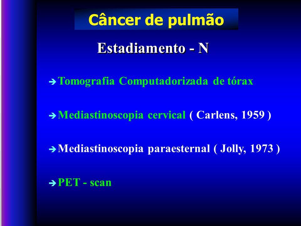 Câncer de pulmão Estadiamento - N Tomografia Computadorizada de tórax