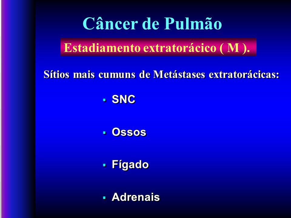 Câncer de Pulmão Estadiamento extratorácico ( M ).