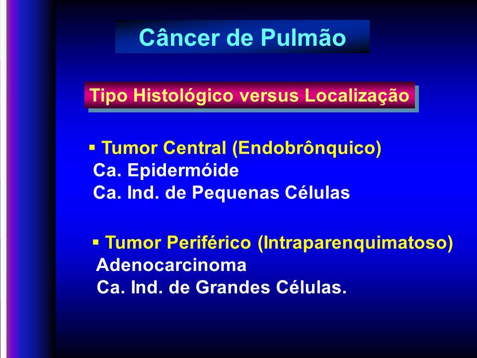 Câncer de Pulmão Tipo Histológico versus Localização