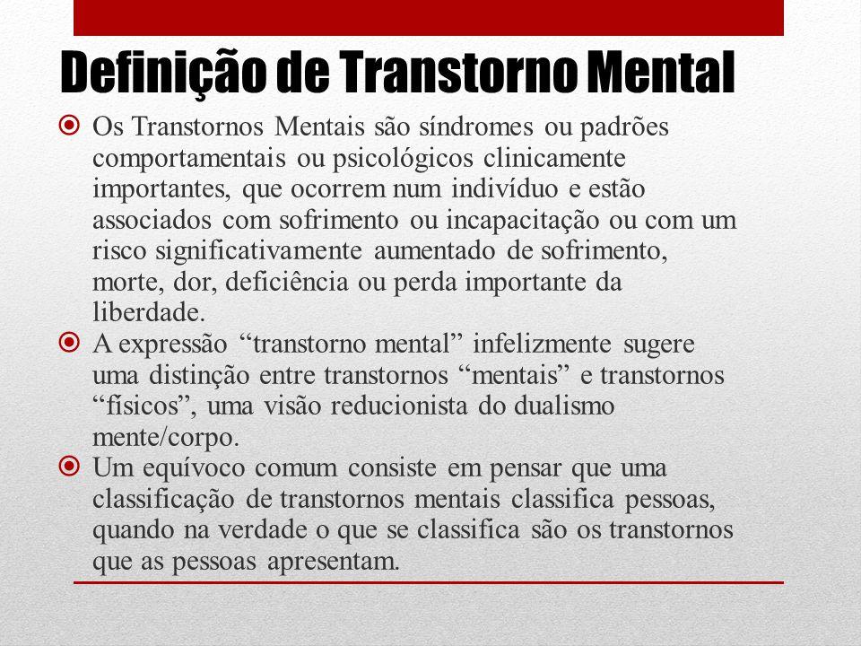 Definição de Transtorno Mental