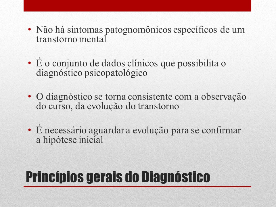 Princípios gerais do Diagnóstico