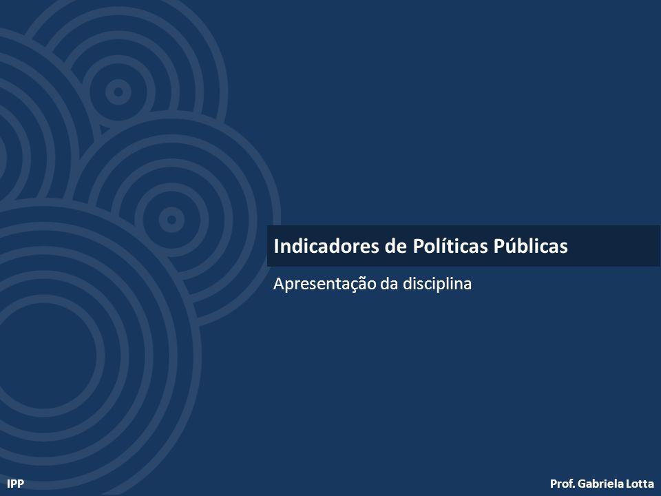 Indicadores de Políticas Públicas