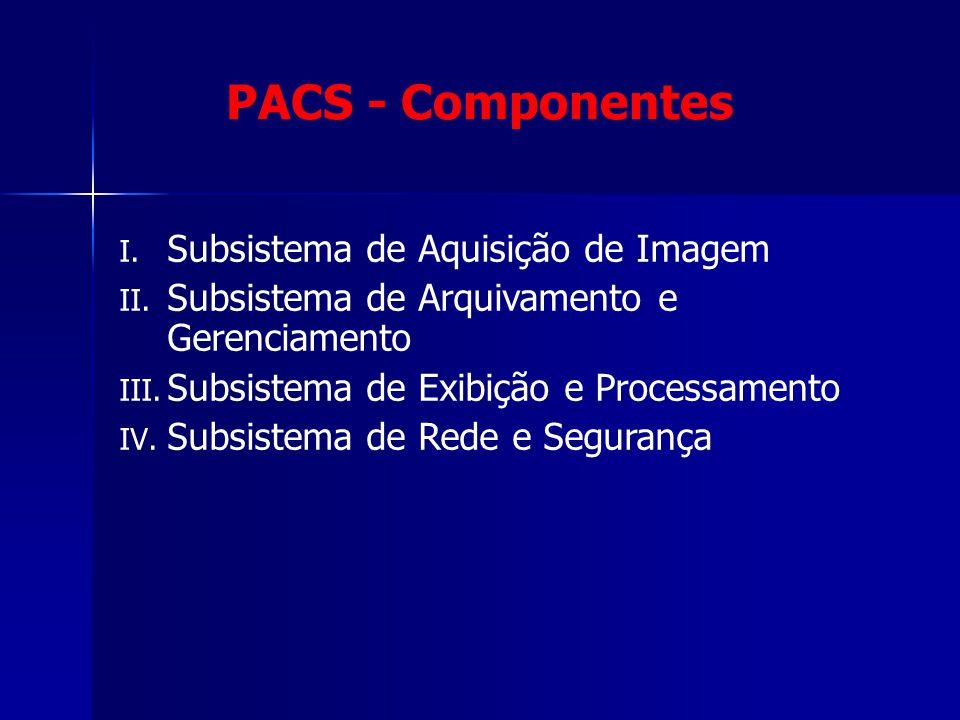 PACS - Componentes Subsistema de Aquisição de Imagem