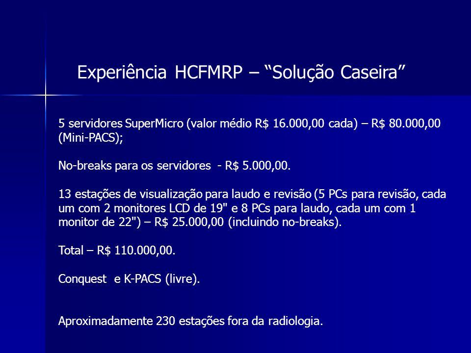 Experiência HCFMRP – Solução Caseira