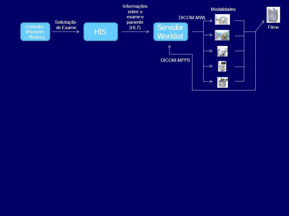 Informações sobre o exame e paciente (HL7)
