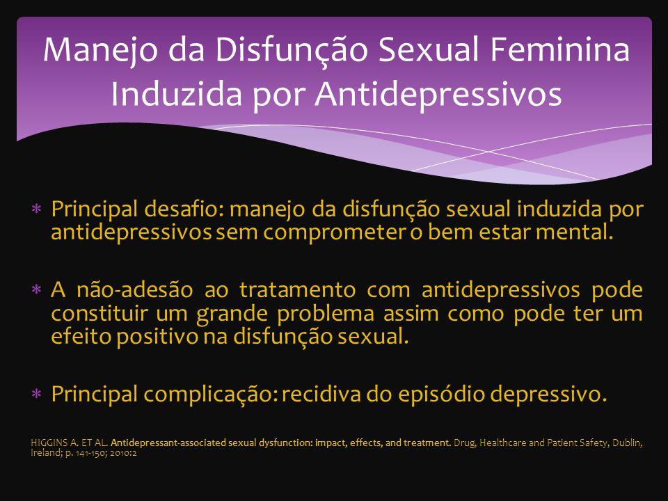 Manejo da Disfunção Sexual Feminina Induzida por Antidepressivos