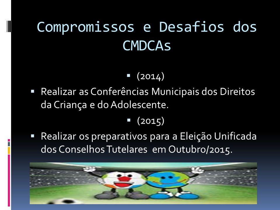 Compromissos e Desafios dos CMDCAs