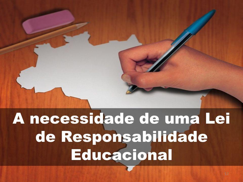 A necessidade de uma Lei de Responsabilidade Educacional