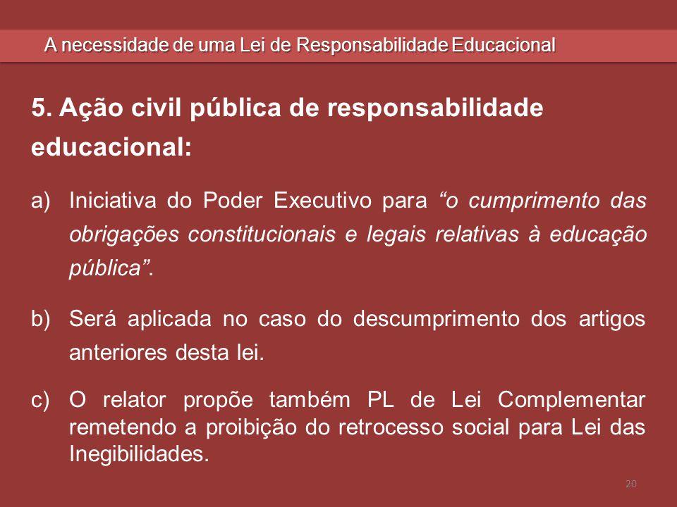 5. Ação civil pública de responsabilidade educacional: